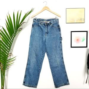Vintage Carpenter Jeans High-Waisted Denim 90s 10